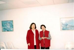 Nicole Bacqué, Présidente en exercice, et Michèle Pennequin, Présidente d'honneur